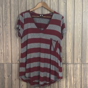 H by Bordeaux Stripped Pocket T-shirt